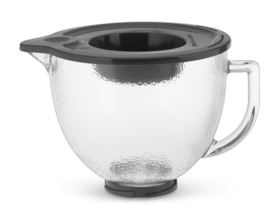 KitchenAid® 5-Qt. Hammered Glass Bowl with Lid