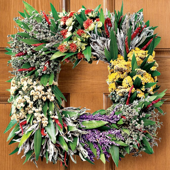 Square Mixed-Herb Wreath