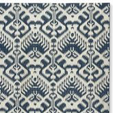 Ikat Medallion Indoor/Outdoor Dress Blue/Egret Rug Swatch