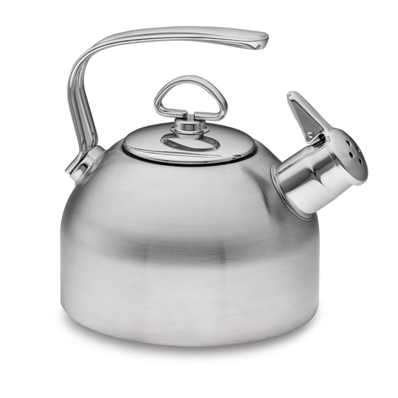 Chantal whistling tea kettle stainless steel williams sonoma - Chantal teapots ...