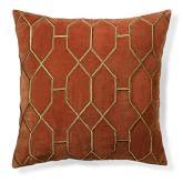 Geometric Embroidered Velvet Pillow Cover, 18