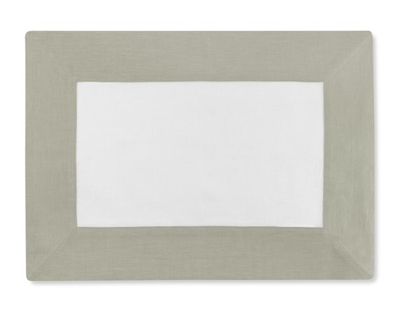 Wide Border Place Mat, Flax