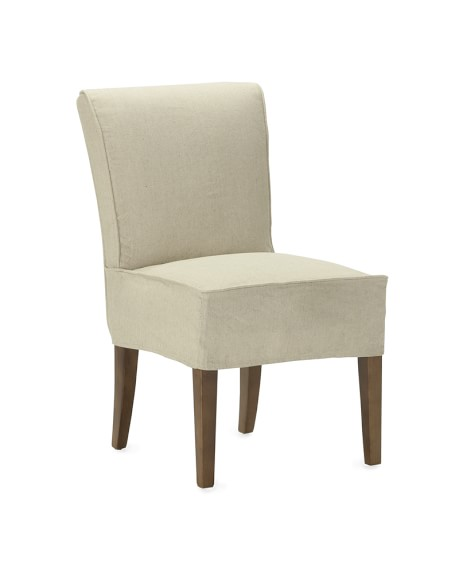 Fitzgerald Slipcovered Side Chair, Linen