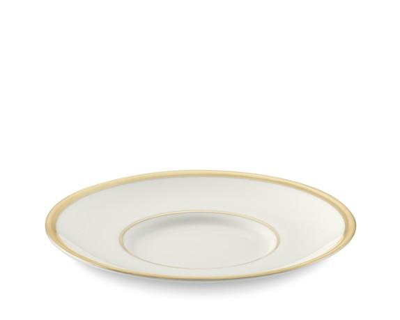 Pickard Signature Can Tea Saucer, Gold