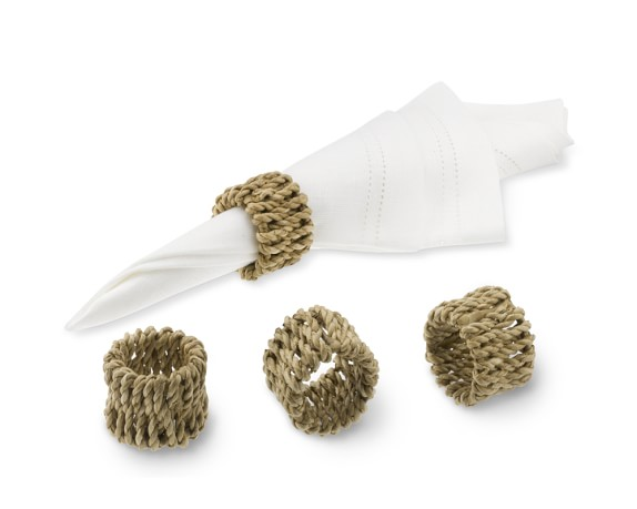 Woven Sea Grass Napkin Rings, Set of 4