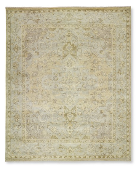 Hand-Knotted Desert Dune Rug, 6' X 9', Neutral