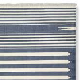 Stonewashed Variegated Stripe Flatweave Rug Swatch