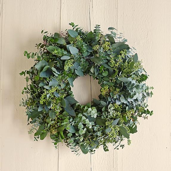 "Eucalyptus Wreath, 20"""