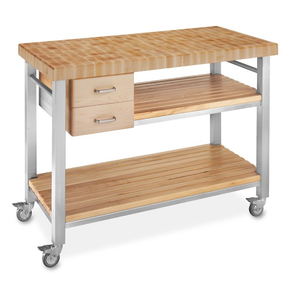 John Boos End-Grain Butcher Block Culinary Cart, 48""