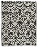 Ikat Medallion Indoor/Outdoor Rug, 9' X 12', Black/Egret