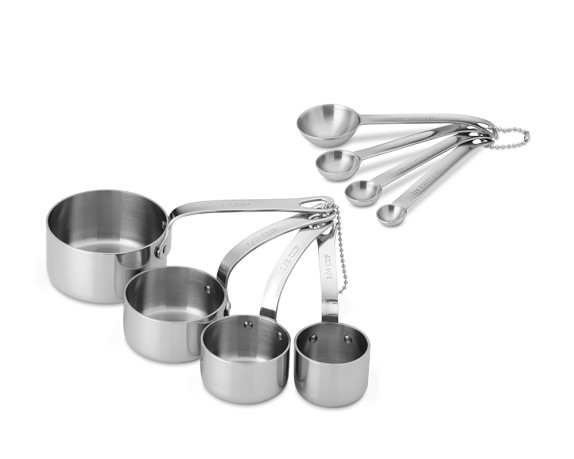 Williams Sonoma Stainless-Steel Boxed Measuring Set
