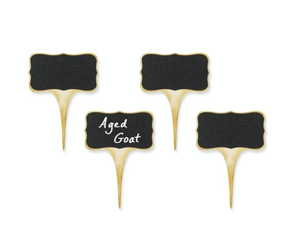 Chalkboard Cheese Markers, Set of 4