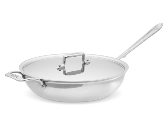 All-Clad d5 Stainless-Steel Sauté/Simmer Pan, 4-Qt