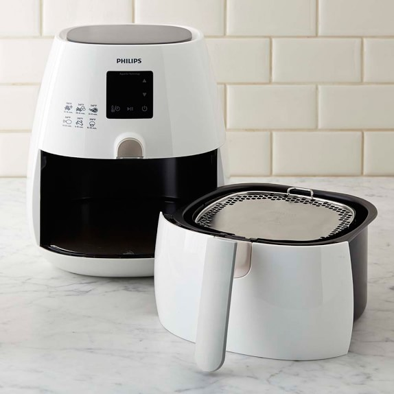 Philips Viva Digital Airfryer with Variety Basket, White