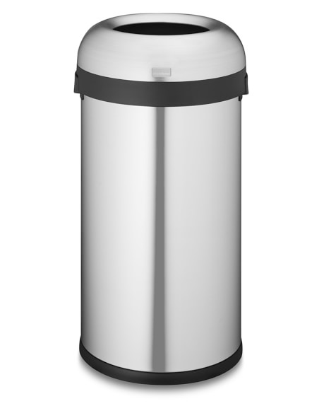 simplehuman™ 60L Stainless-Steel Bullet Open Trash Can