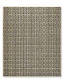 Greek Key Kilim Rug, 5' X 8', Antique White/Ebony