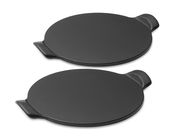 Emile Henry Individual Mini Pizza Stone, Black, Set of 2