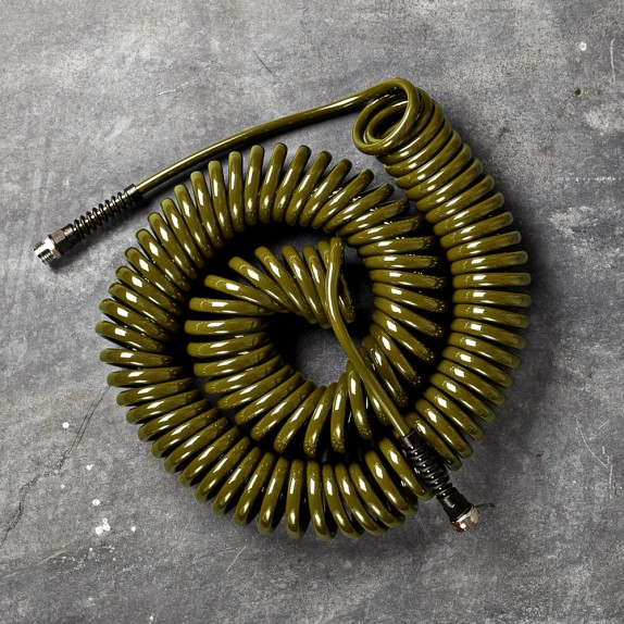Professional Series Coil Hose, 75ft, Olive