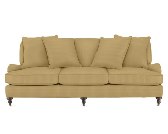 Bedford Sofa with Standard Cushion, Raffia, Solid, Natural