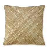 Woven Leather Hide Pillow Cover, 22