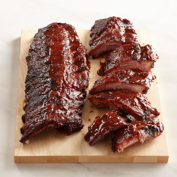 Home Gourmet Food Meat Pork Williams Sonoma BBQ Baby Back Ribs