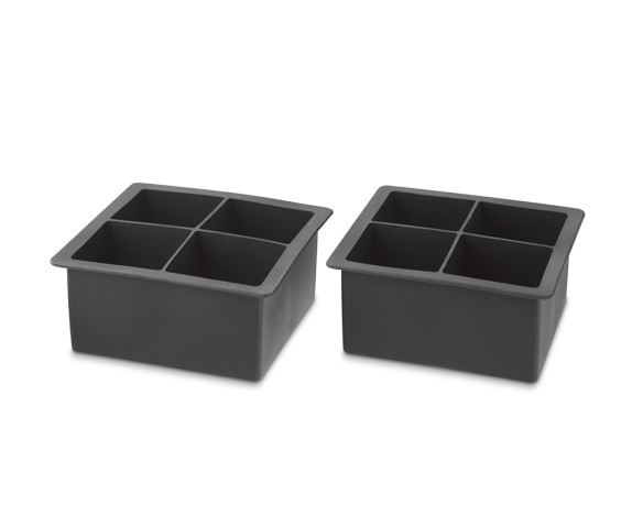 King Cube Silicone Ice Cube Trays, Set of 2