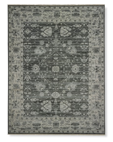 Stormy Sky Hand-Knotted Rug, Grey, 6x9'