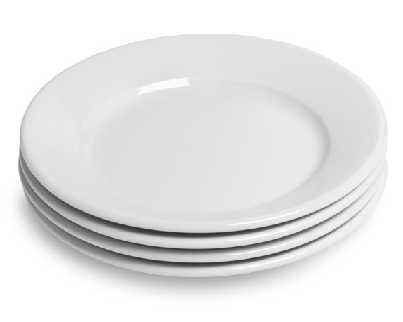 Apilco Tradition Porcelain Bread & Butter Plates, Set of 4