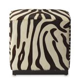 Robertson Cube, Pony Hair On Hide, Zebra Chocolate