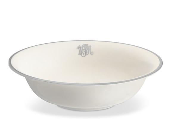 Pickard Signature Monogram Vegetable Bowl, Platinum