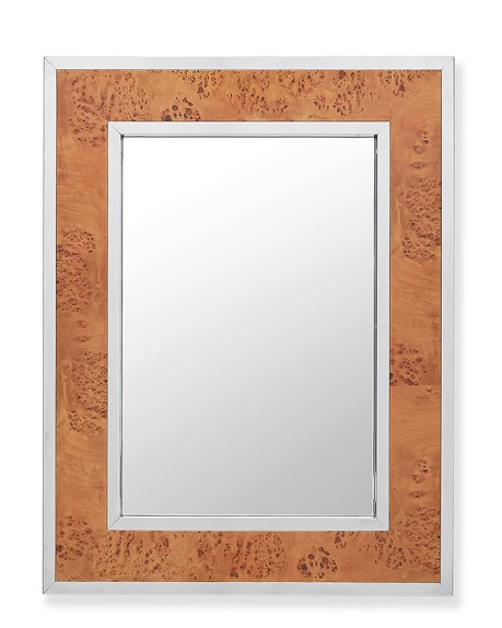 Fulton Wall Mirror, Burl Wood