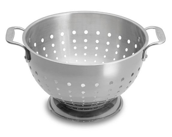 All-Clad Stainless-Steel Colander, 5-Qt.