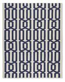 Graphic Link Indoor/Outdoor Rug , 9' X 12', Dress Blue / Egret