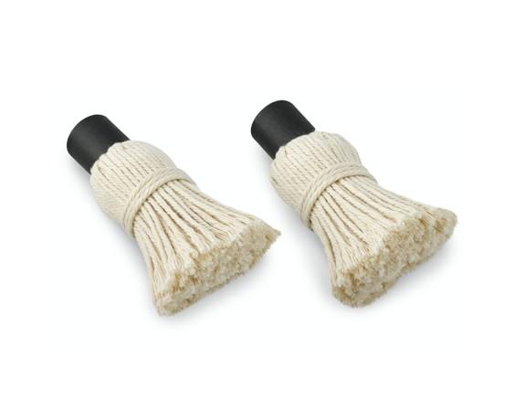 No Burn BBQ Saucepot Replacement Mop Heads, Set of 2