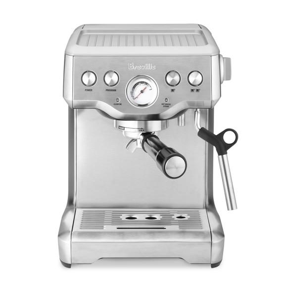 Breville Infuser Espresso Maker, BES840XL, Silver