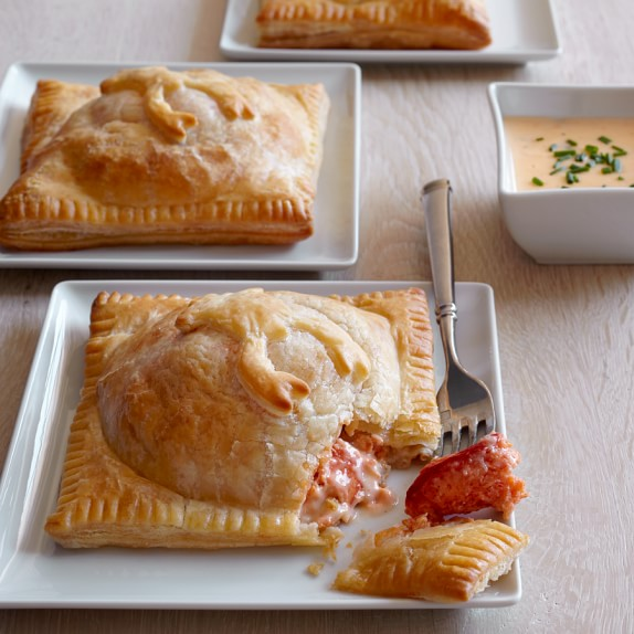 Lobster Wellington with Lobster Sauce, Serves 4