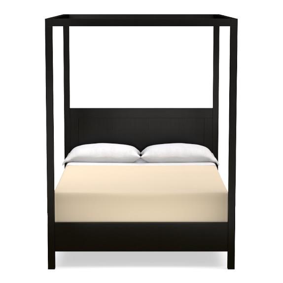 Keating Canopy Bed, King, Ebony