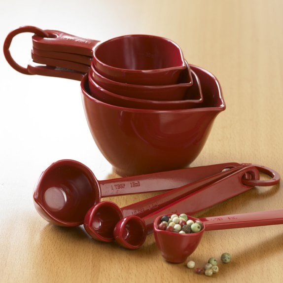 Williams Sonoma Melamine Measuring Cups & Spoons Set, Empire Red