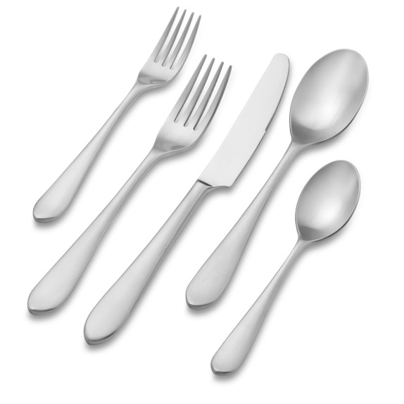 Flute Flatware, 5-Piece Flatware Place Setting
