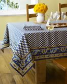 "Marseille Tablecloth, Navy, 70"" x 90"""