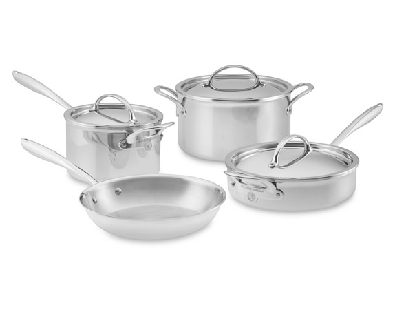 Williams Sonoma Thermo-Clad™ Stainless-Steel 7-Piece Cookware Set