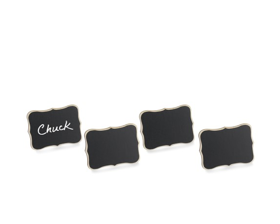 Chalkboard Place Card Holders, Set of 4