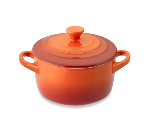 Le Creuset Stoneware Mini Round Cocotte, Flame