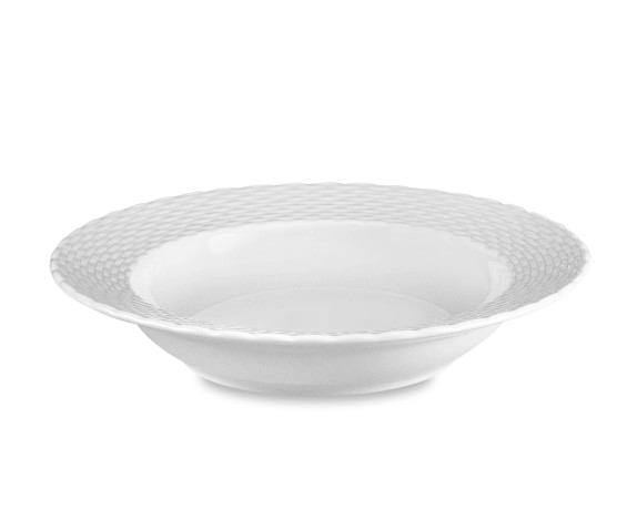 Pillivuyt Basketweave Porcelain Soup Plates, Set of 4