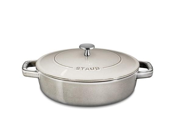 Staub Cast-Iron Braiser, 2 3/4-Qt., Graphite