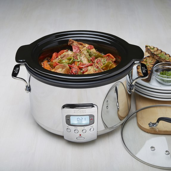 All-Clad Slow Cooker with Black Ceramic Insert, 4 Qt.
