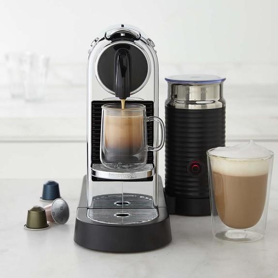 Nespresso Citiz Espresso Maker with Milk Frother, Chrome