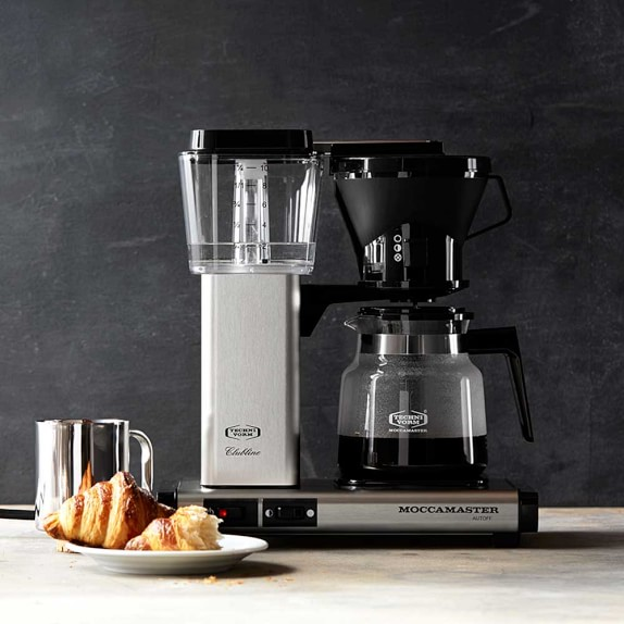 Technivorm Moccamaster Coffee Maker With Glass Carafe Brushed Silver : Technivorm Moccamaster Coffee Maker with Glass Carafe Williams Sonoma