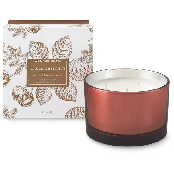 Williams Sonoma Spiced Chestnut Triple-Wick Candle