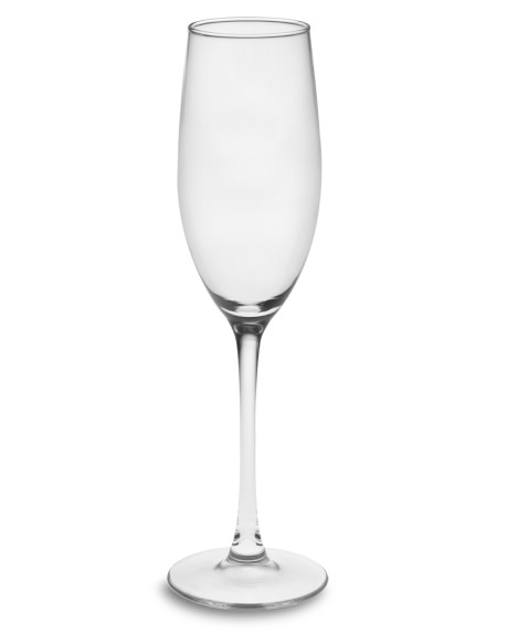 Plain Champagne Flutes, Set of 4